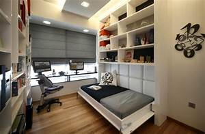 decoration ideas for the guest room with double function With modern murphy bed decoration for an apartment