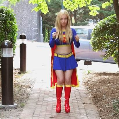 Cosplay Supergirl Gifs Comic Con Flying Animated