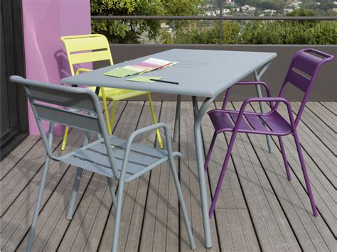 chaise jardin couleur stunning table jardin aluminium couleur ideas amazing