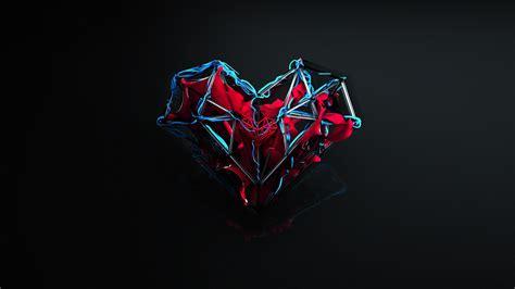 wallpaper love heart abstract dark hd blackdark