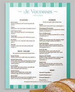 1000 images about french menus on pinterest fine dining With french cafe menu template