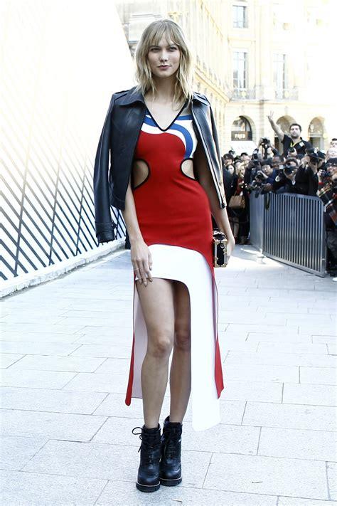 Karlie Kloss Chic Outfit Louis Vuitton Show Paris