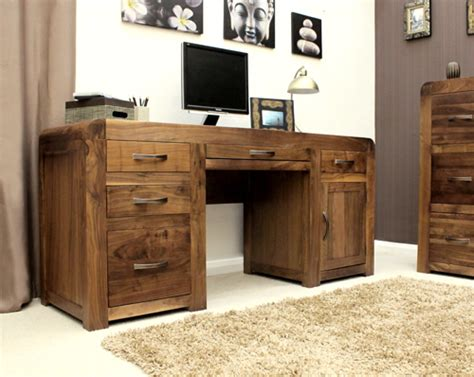 all wood desk for sale shiro solid walnut dark wood furniture large office pc
