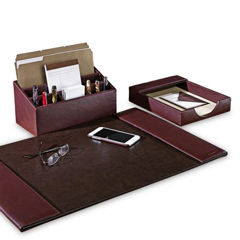 really cool desk accessories bomber jacket desk set three pieces leather desk