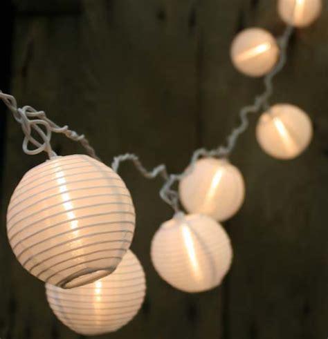 10ct electric white lantern lights
