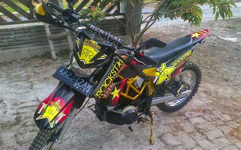 Modifikasi Jupiter Mx Jadi Motor Sport by 84 Modifikasi Motor Jupiter Mx Jadi Supermoto Terlengkap