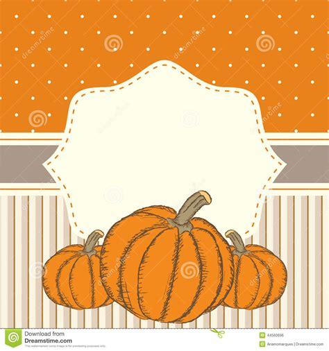 hand drawn invitation  greeting thanksgiving card