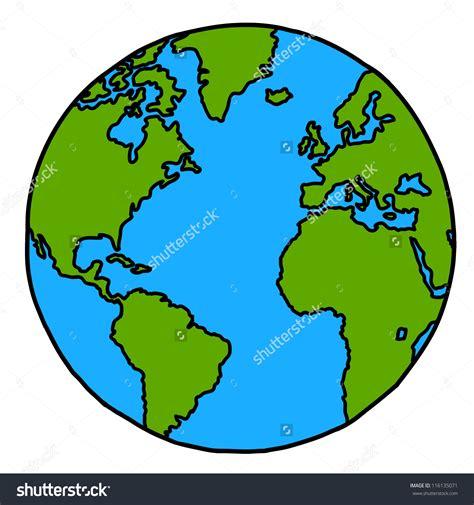 Cartoon World Drawing Planet Earth Hand Writing Cartoon