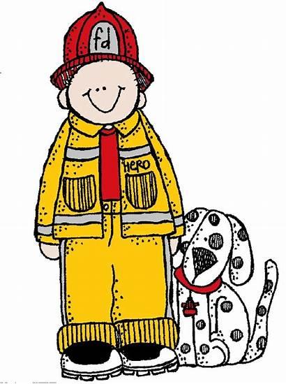 Melonheadz Clipart Fireman Fire Community Hero Safety
