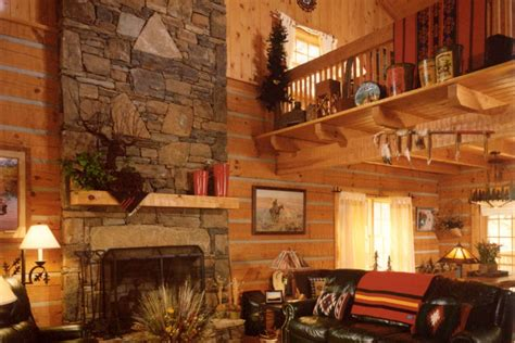 Interior Log Home & Cabin Pictures