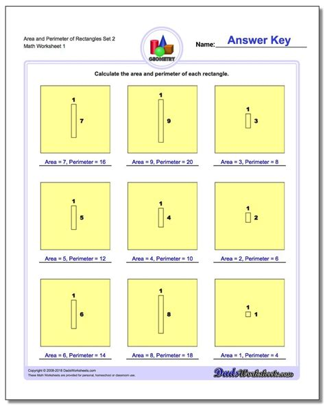 area  perimeter  rectangles