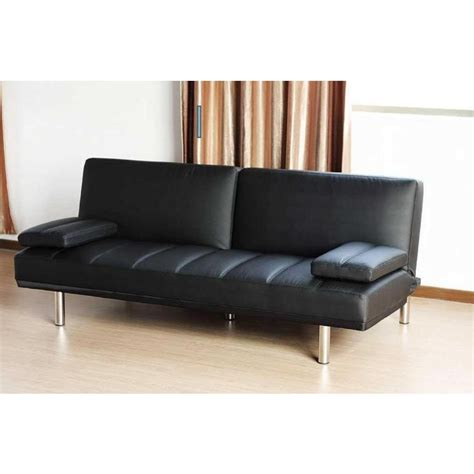 leather click clack sofa bed pu leather click clack sofa bed couch in black buy sofa beds