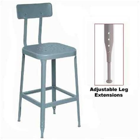 iron counter stools lyon 1928 26 quot stool steel seat and back with 1928