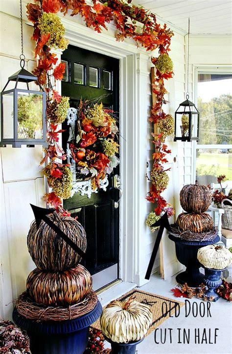 budget fall decorating ideas door ideas