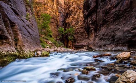 bureau paysage tlcharger fond d 39 ecran parc national de zion rivière