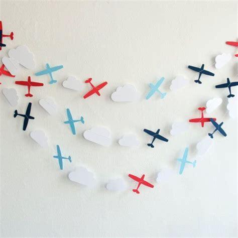 Kinderzimmer Deko Flugzeug airplane garland paper garland nursery decoration