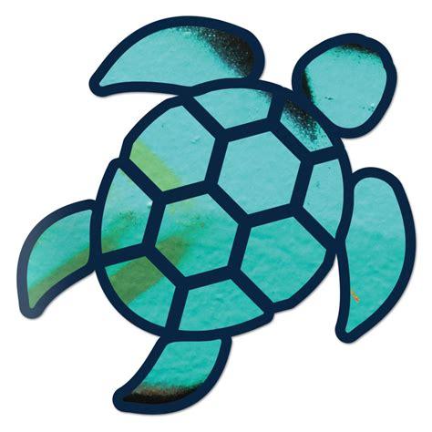 hound auto sea turtle aqua blue sticker decal wall