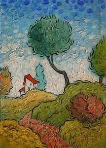 Briscoe Original Impressionist landscape painting Van Gogh ...