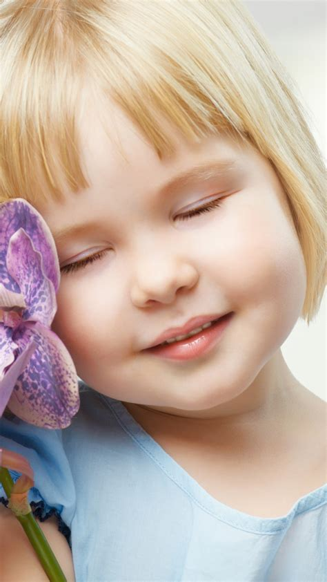 wallpaper purple orchids cute girl hd cute
