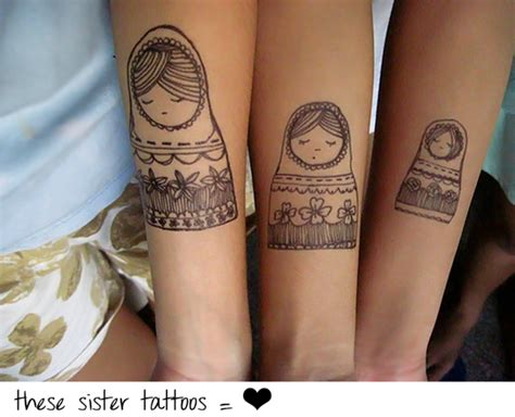 Lovely Sister Tattoo Designs With Photos Slodive