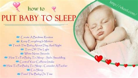 10 Simple Ways On How To Put Baby To Sleep Without