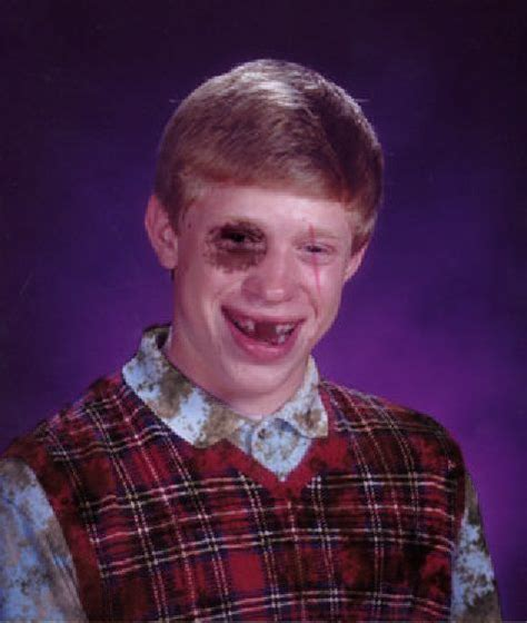 Bad Luck Brian Template by Meme Template Search Imgflip