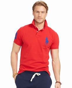 Polo ralph lauren Men's Custom-fit Big Pony Mesh Polo ...