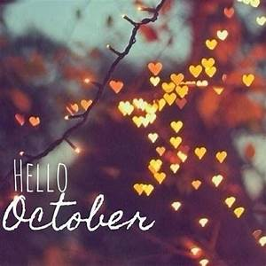 Hello October With Heart Lights Pictures, Photos, and ...