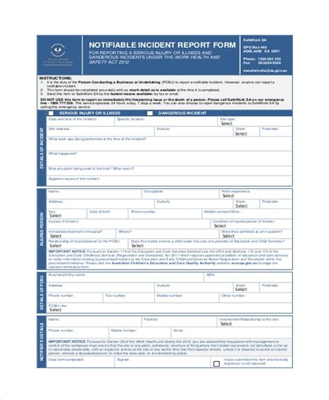 Employee Incident Report Templates