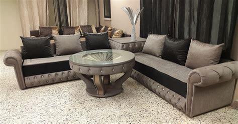 canape en bois et tissu chester salon marhaba salon marocain salon