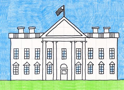 draw  white house art projects  kids