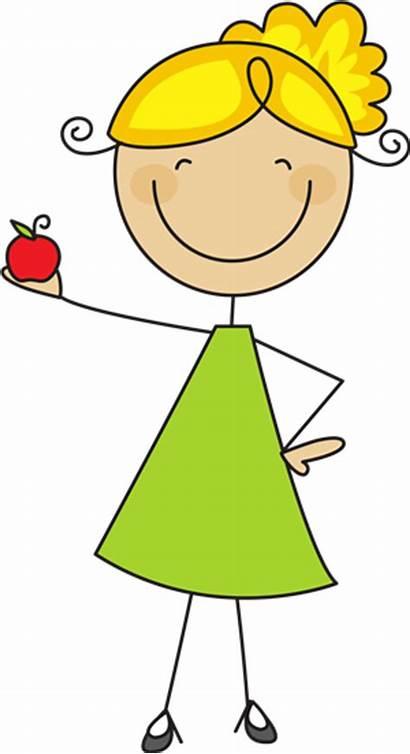 Clipart Stick Figure Teacher Woman Clip Figures