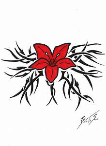 Tribal Hawaiian Flower Tattoo by BornToSoar on DeviantArt