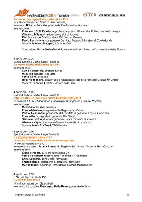Ufficio Provinciale Lavoro Vicenza - programma convegni schio