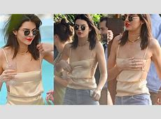 Kendall Jenner Braless Almost Suffer Wardrobe Malfunction