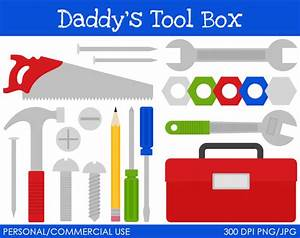 Items similar to Daddy's Tool Box Clipart - Digital Clip ...