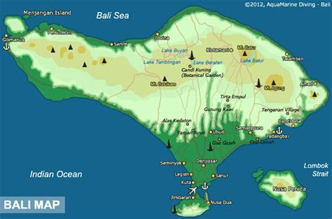 bali map map  bali indonesia dive sites day trip maps