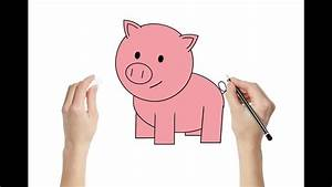 How To Draw A Pig   Draw  Art   Colorning Activity For