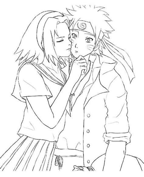 Dibujos para colorear Naruto Enamorado Dibujos para