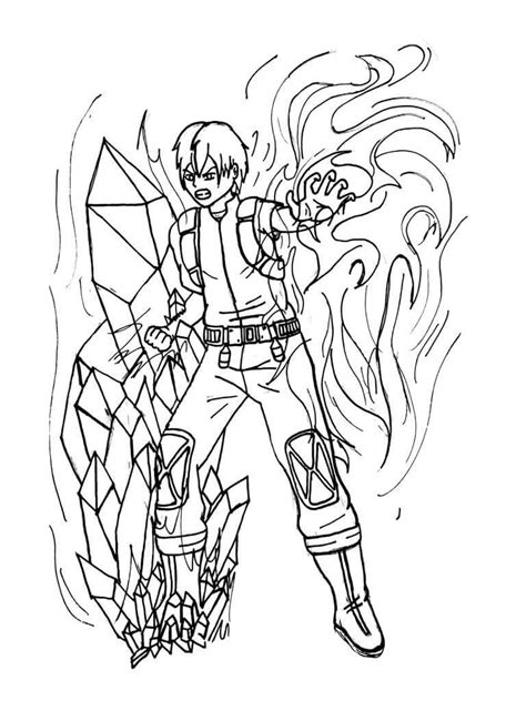 todoroki coloring pages coloring home