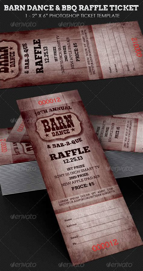 ticket design templates psd ai word design