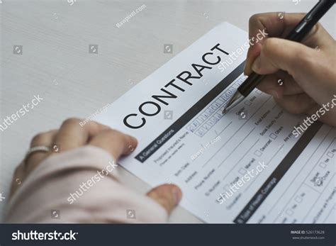 contract deal agreement commitment promise concept stock