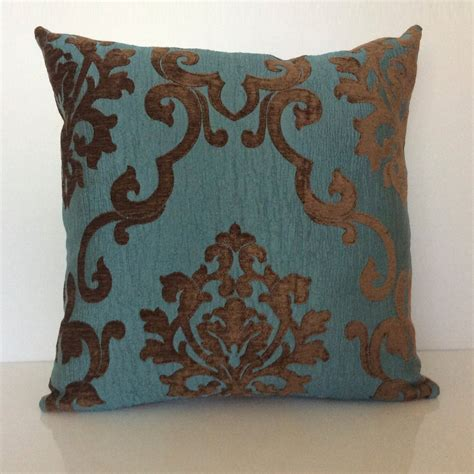 teal and pillows chocolate brown and teal pillow throw pillow cover