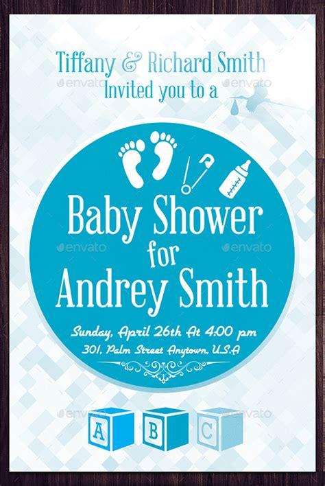 baby shower flyer templates psd ai illustrator