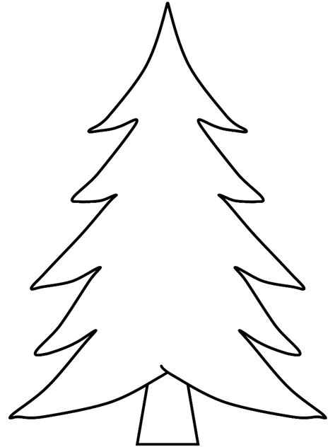 pix for gt blank christmas tree coloring arts and crafts