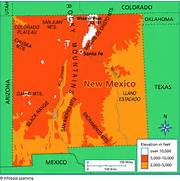26 new New Mexico Elevation Map – bnhspine.com