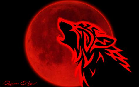 Red Moon And Red Wolf By Zouhair01lord On Deviantart