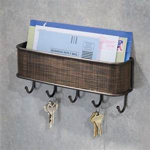 interdesign wall mail letter key holder hook rack hanger With letter and key wall organizer