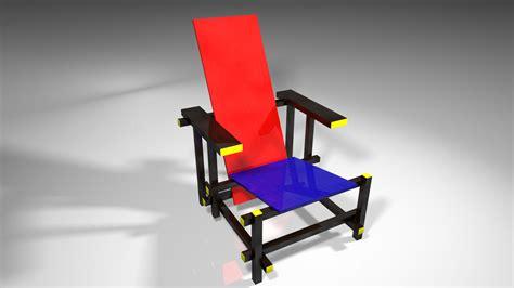 la chaise de rietveld chaise et bleue conceptions de maison blanzza