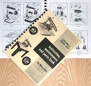 Dewalt Mb  U0026 Gw Radial Arm Saw Instructions  U0026 Parts Manual